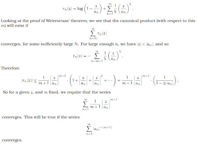 Complex Analysis: #24 Infinite Products of Functions equation pic 8
