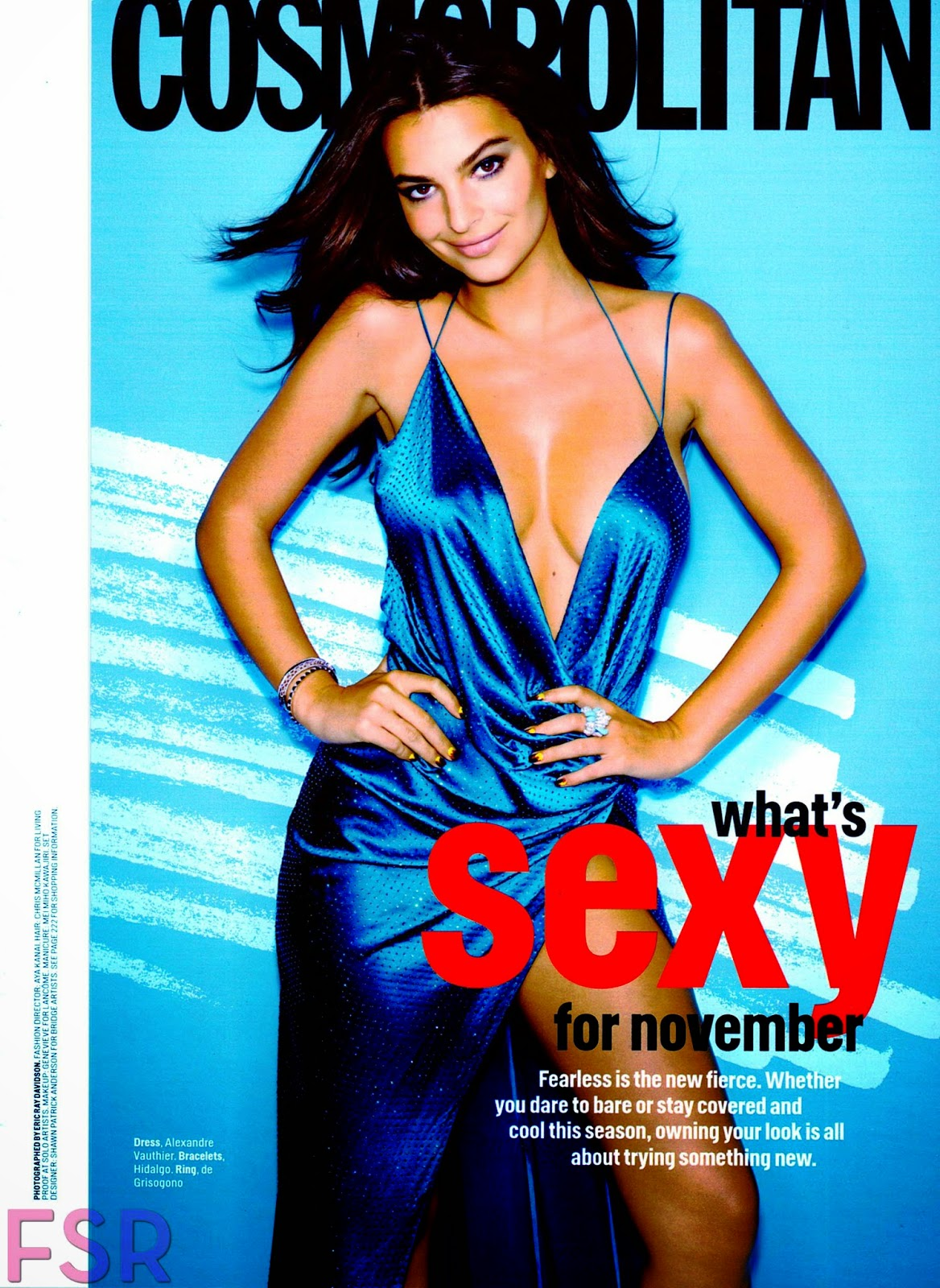 Emily Ratajkowski Busts Out For Cosmo