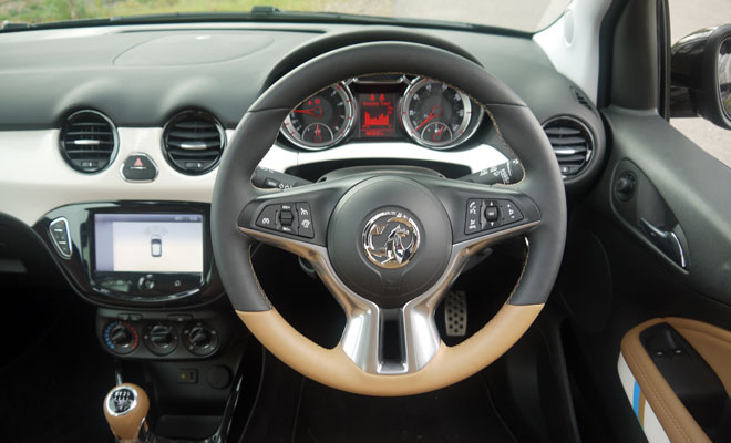 Vauxhall Adam Rocks Air steering wheel