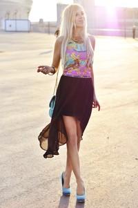 blog moda czarna spódniczka asymetryczna