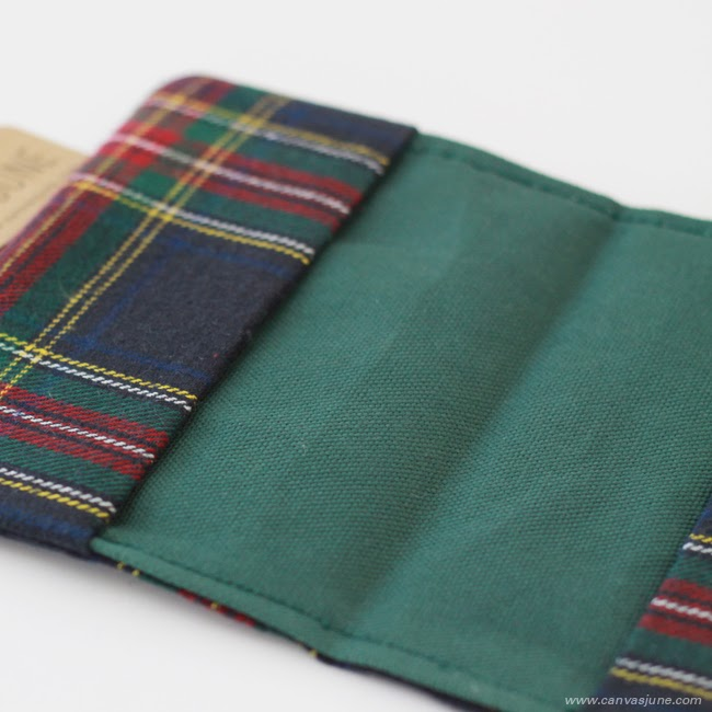 passport cover, Etsy shop, handmade passport cover, passport holder, handmade designs, handmade plaid passport cover, handmade plaid wallet, plaid passport cover, modern passport cover design, canvasjune passport cover