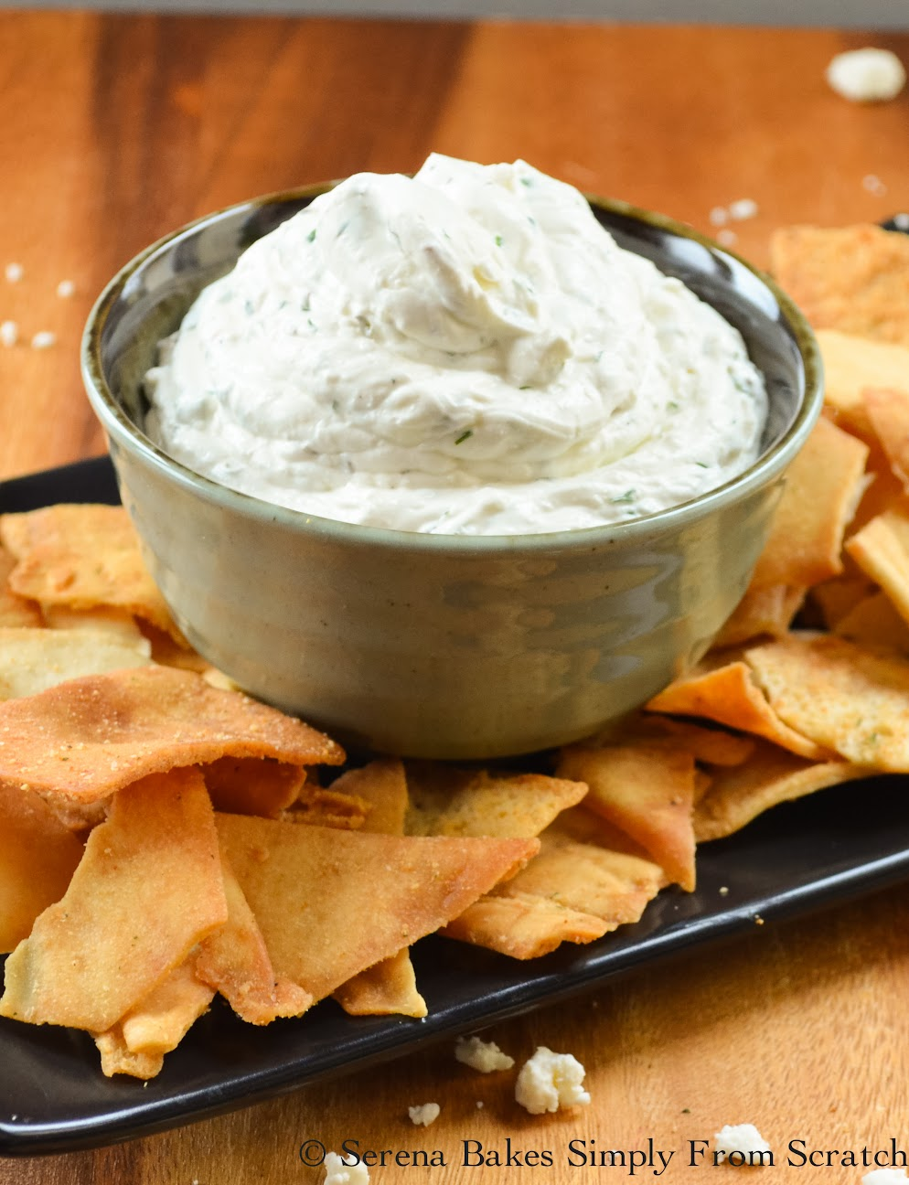 Greek Feta Dip is amazing and goes great with Pita Chips and Fresh Veggies!