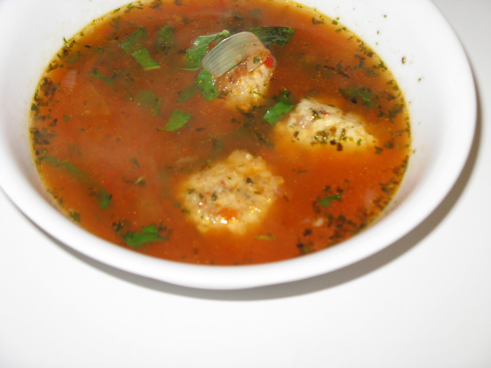 Abby Mito: No Tomato, No Spinach Italian Meatball Soup