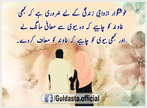Urdu Islamic Life Quotes and Sayings with Images, Mian Biwi Ka Rishta Maulana Tariq jameel, Mian Bivi ka Aapas main Husne Salook | Islamic Pictures Blog.