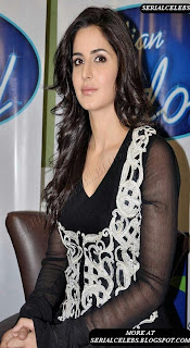 Katrina Kaif at Indian Idol sets