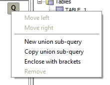 Create New union sub-query
