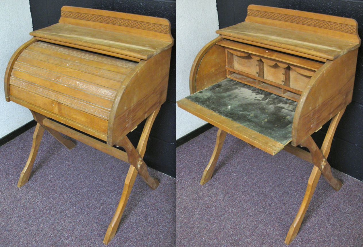 This Adorable Child Sized Roll Top Desk Just Got It S Repairs . Full resolution‎  photograph, nominally Width 1264 Height 860 pixels, photograph with #967135.