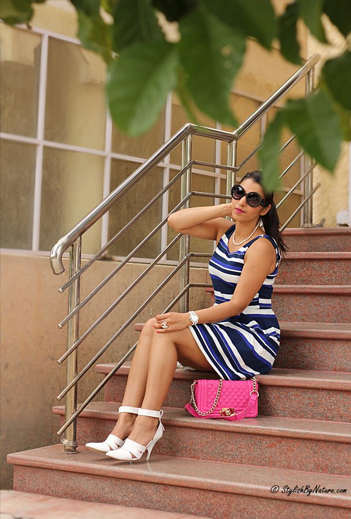 white heels straps, Ladylike Dress