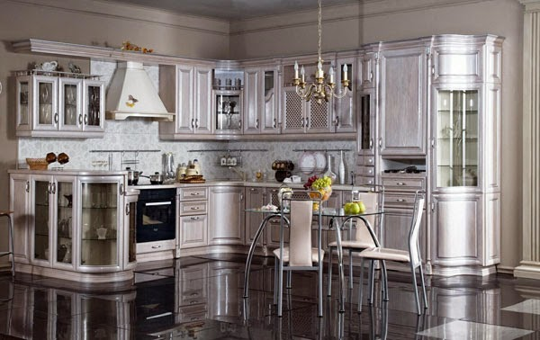 Luxury Italian white kitchen designs, ideas 2015, sets, Italian kitchens