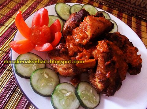 resep ayam bakar spesial pedas bumbu rujak ayam potong