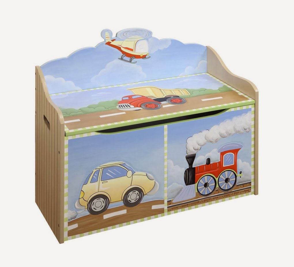 Cars Trains And Planes Toy Box Teamson Transport