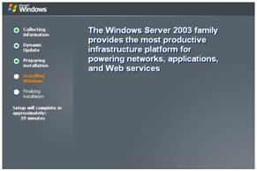 Proses Installing Windows Server 2003