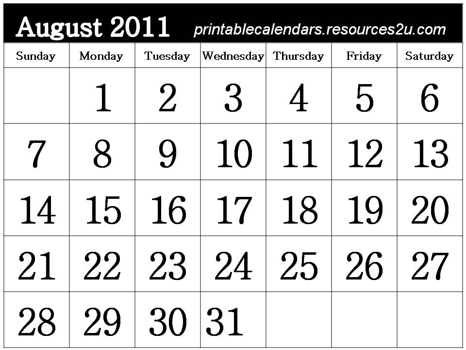 printable calendar 2011 may. Printable Calendar 2011