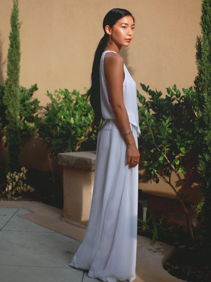 Stephanie Liu of Honey & Silk wearing A.L.C. Rolston Dress