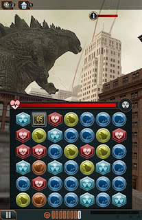 Screenshots of the Godzilla: Smash 3 for Android tablet, phone.