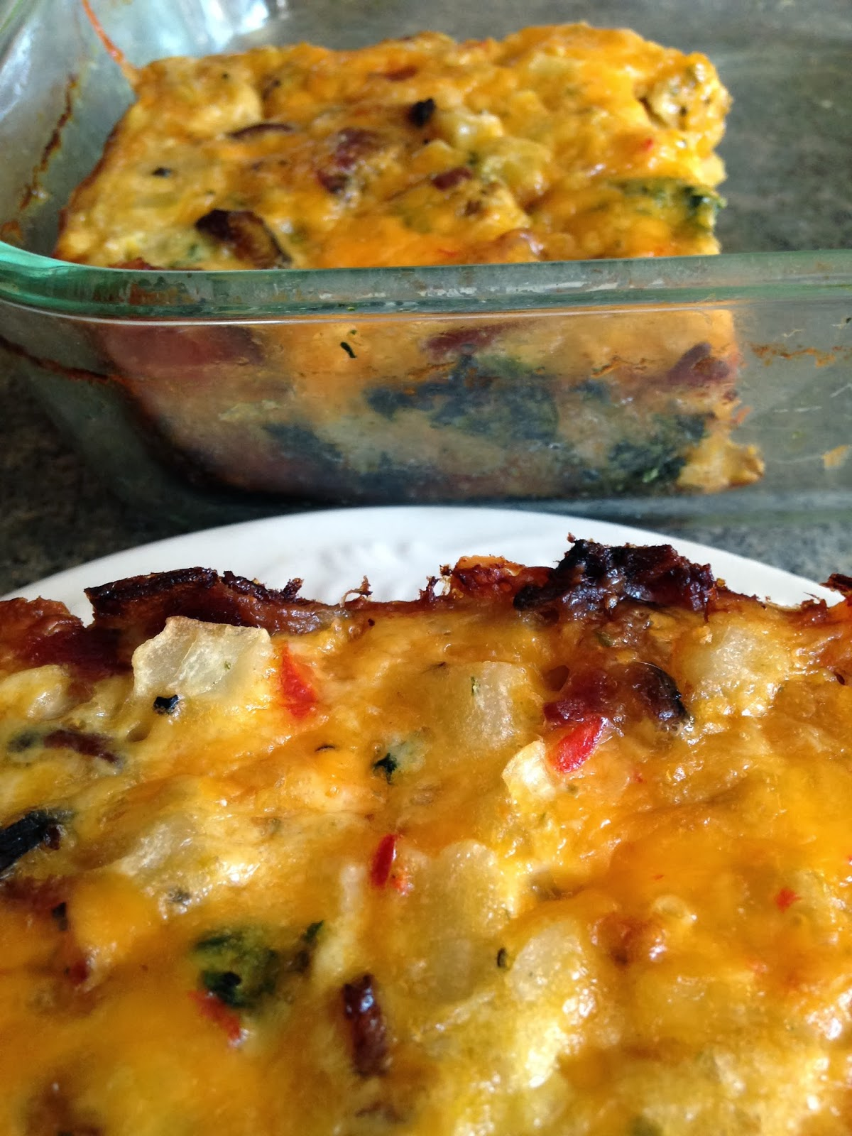 Bacon, Spinach, Cheese and Potato Bake | Turnips 2 Tangerines