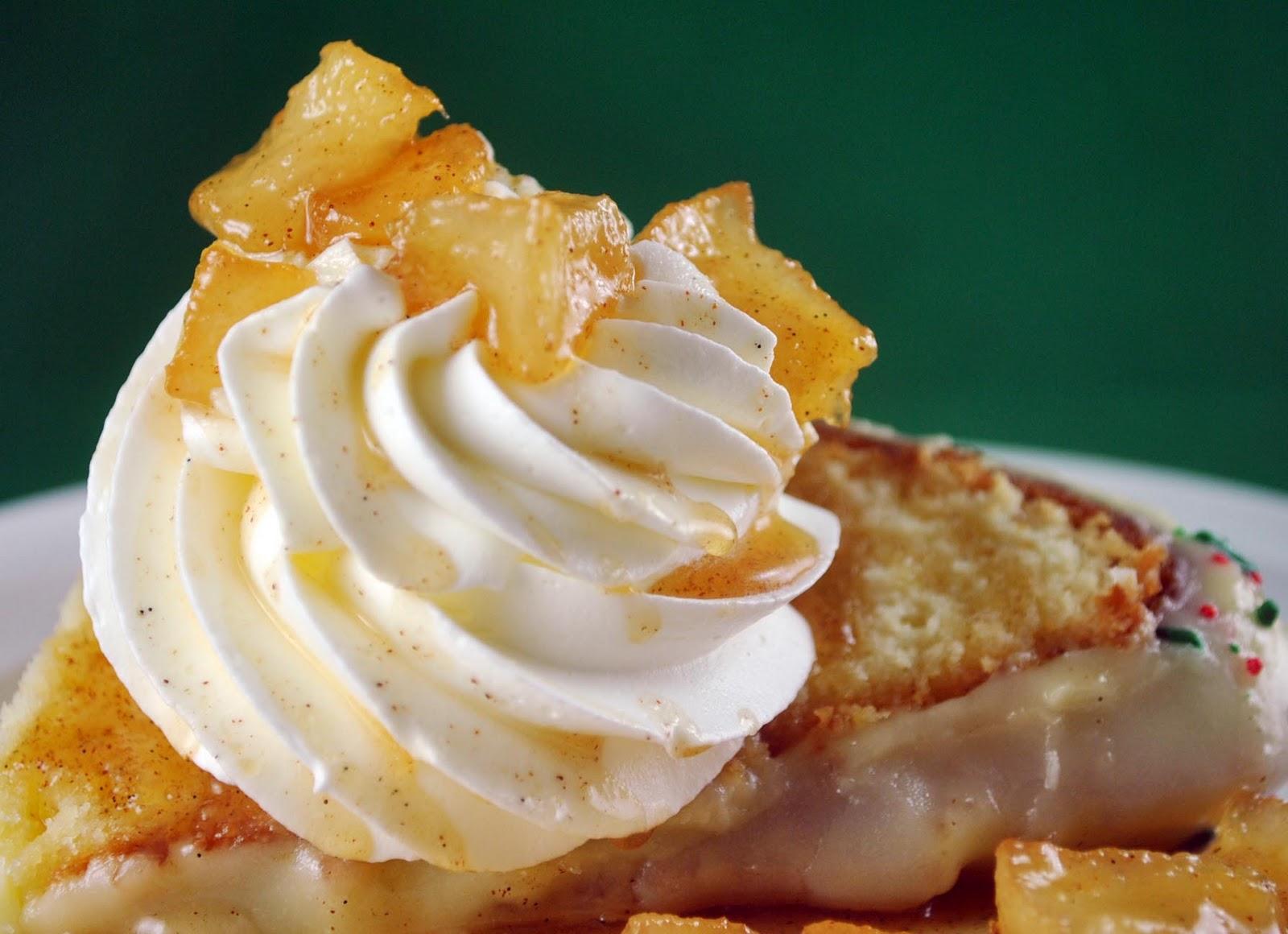 Lemon Glazed Vanilla Bean Cream Cheese Pound Cake with Whipped Cream ...