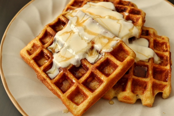 yogurt waffles with honey cream makes 4 to 8 waffles