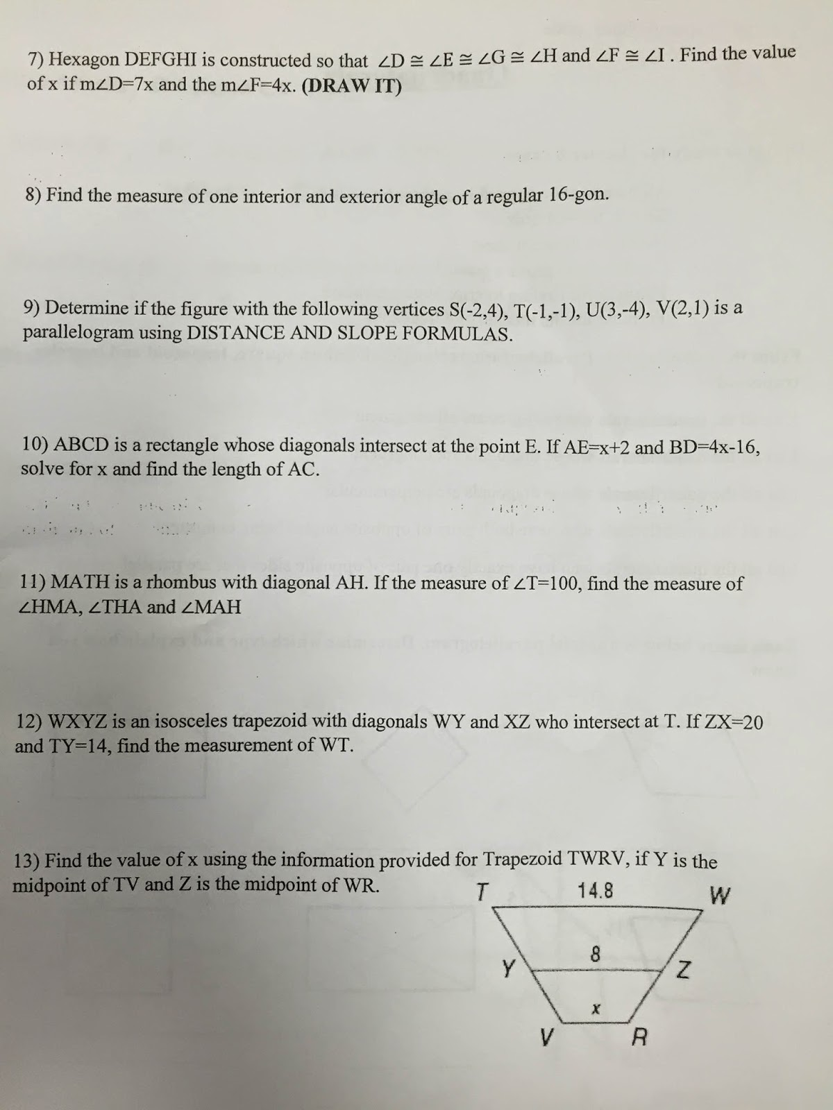 honors geometry vintage high school chapter 6 quadrilaterals rh hgeometryvhs blogspot com glencoe geometry chapter 6 study guide glencoe geometry chapter 6 study guide and intervention answers
