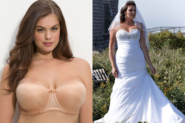 Fashion bride how to wear under your bridal gown for What bra to wear with wedding dress
