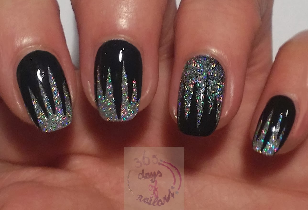 365 days of nail art day 301 wild and edgy nails 365 days of nail art prinsesfo Choice Image