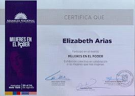 Certificado de participación MUJERES EN EL PODER