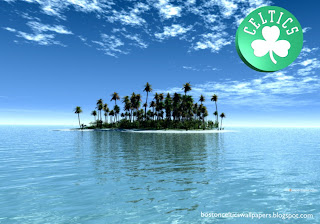 Boston Celtics Posters Wallpapers Celtics Front Logo in Tropical Paradise Island background