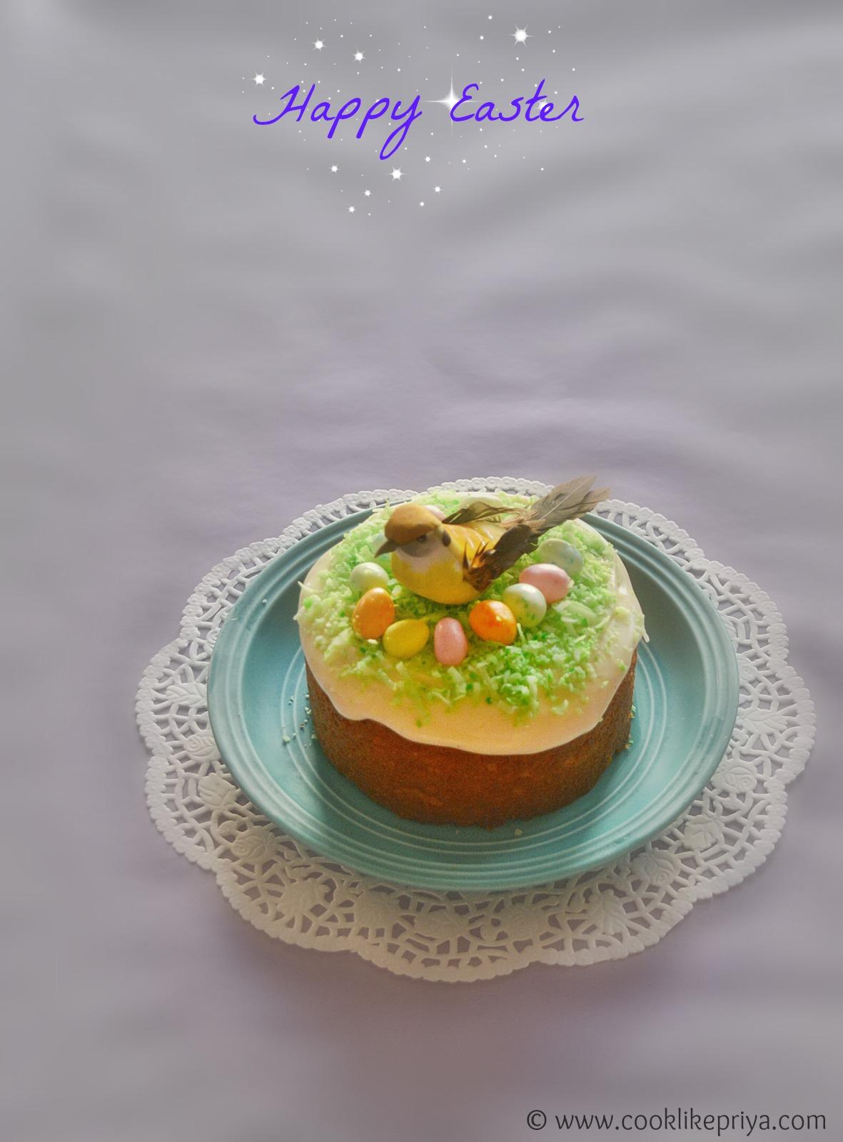 Birds nest carrot cake recipe for Easter