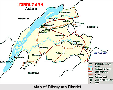 Dibrugarh Map