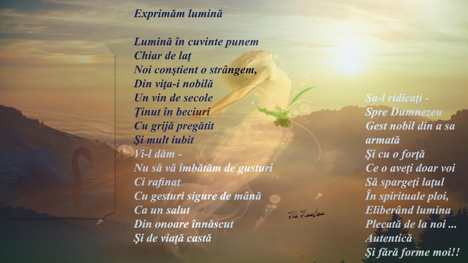 exprimam lumina poezie arta poet filozofie Credinta energie pozitiva vibratie cunoastere constiinta de Sine universala Maria Teodorescu Bahnareanu Wrinkles on my Timeline