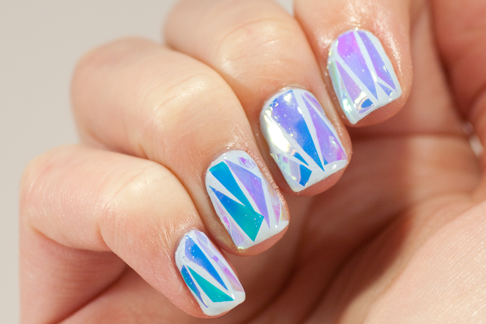 Shattered Glass Nail Art - May contain traces of polish