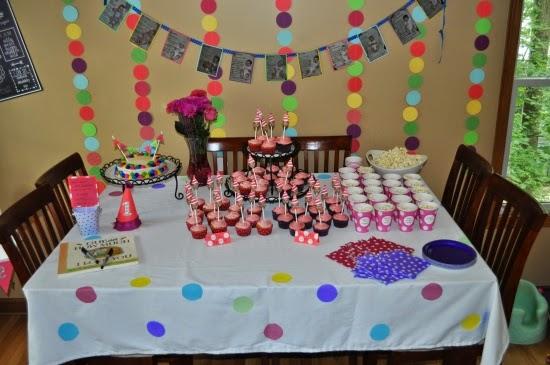 polka dot birthday party