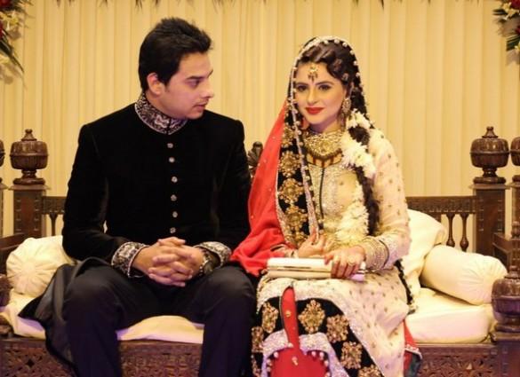 fatima effendi and kanwar arsalan valima exclusive photos