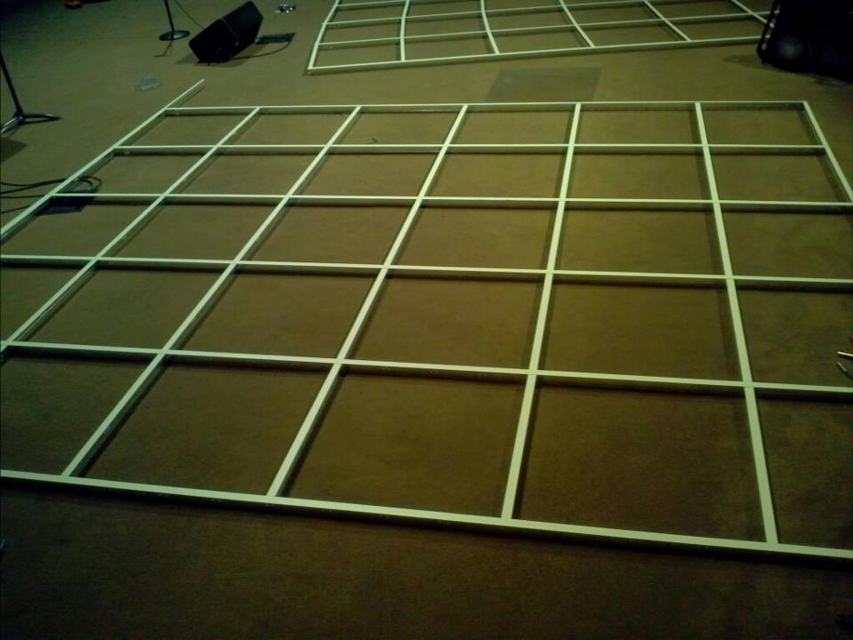Ceiling tile track