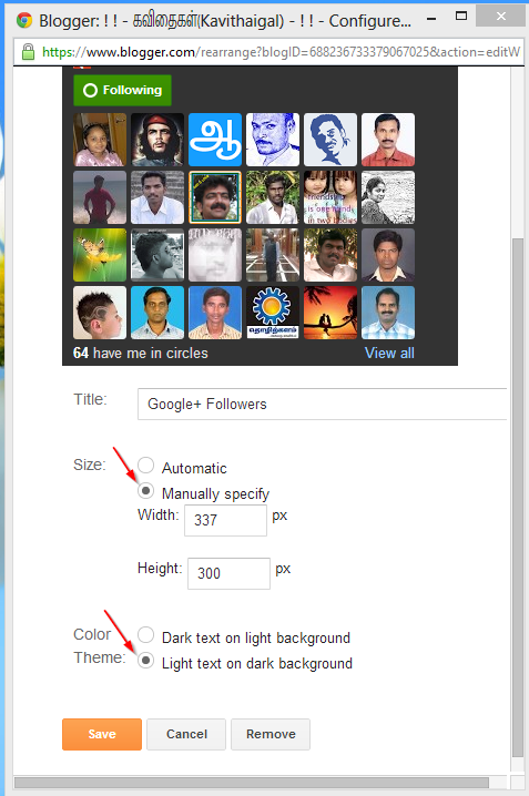 GOOGLE + FOLLOWER WIDGET