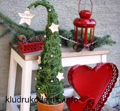 Ёлочки на Новый год своими руками. Мастер-классы и идеи http://prazdnichnyymir.ru/novyi-god/8518/lochki-na-novyi-god-svoimi-rukami-chast-2-master-kl/