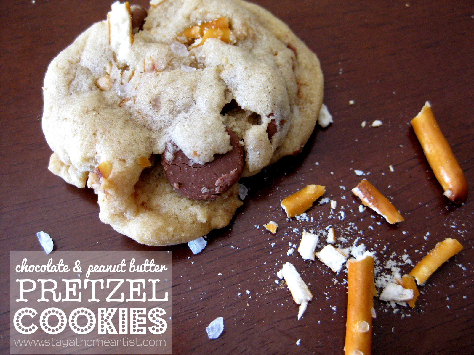 The pretzels stay crunchy and the cookie batter has a great chew ...