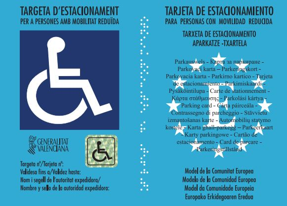Igualdad amplía el derecho de la tarjeta de estacionamiento para movilidad reducida a persona