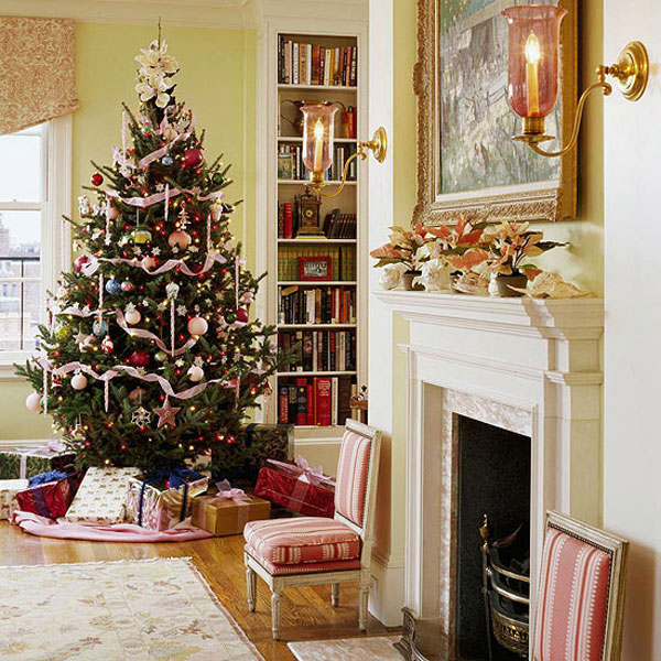 Home decoration design christmas decorations ideas for Living room ideas for christmas
