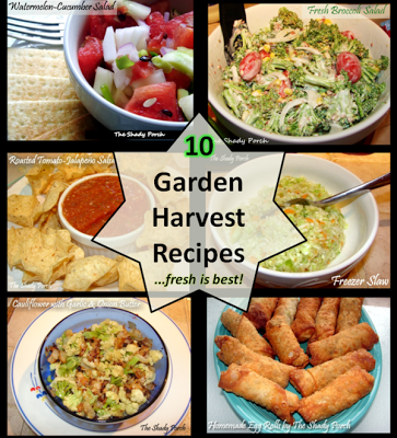 Ten Garden Harvest Recipes from The Shady Porch #recipes #vegetables #salads #sidedish #dinner #recipe