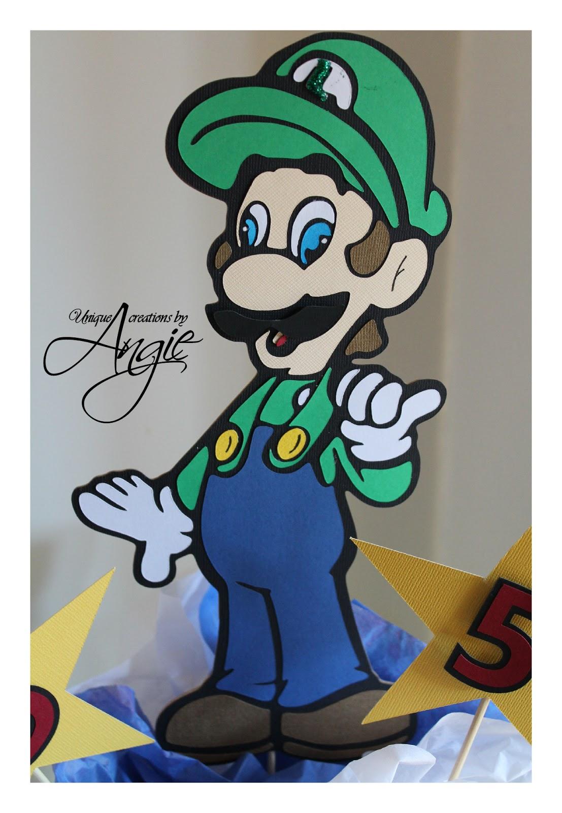 Scrappin Memories Mario And Luigi Centerpieces