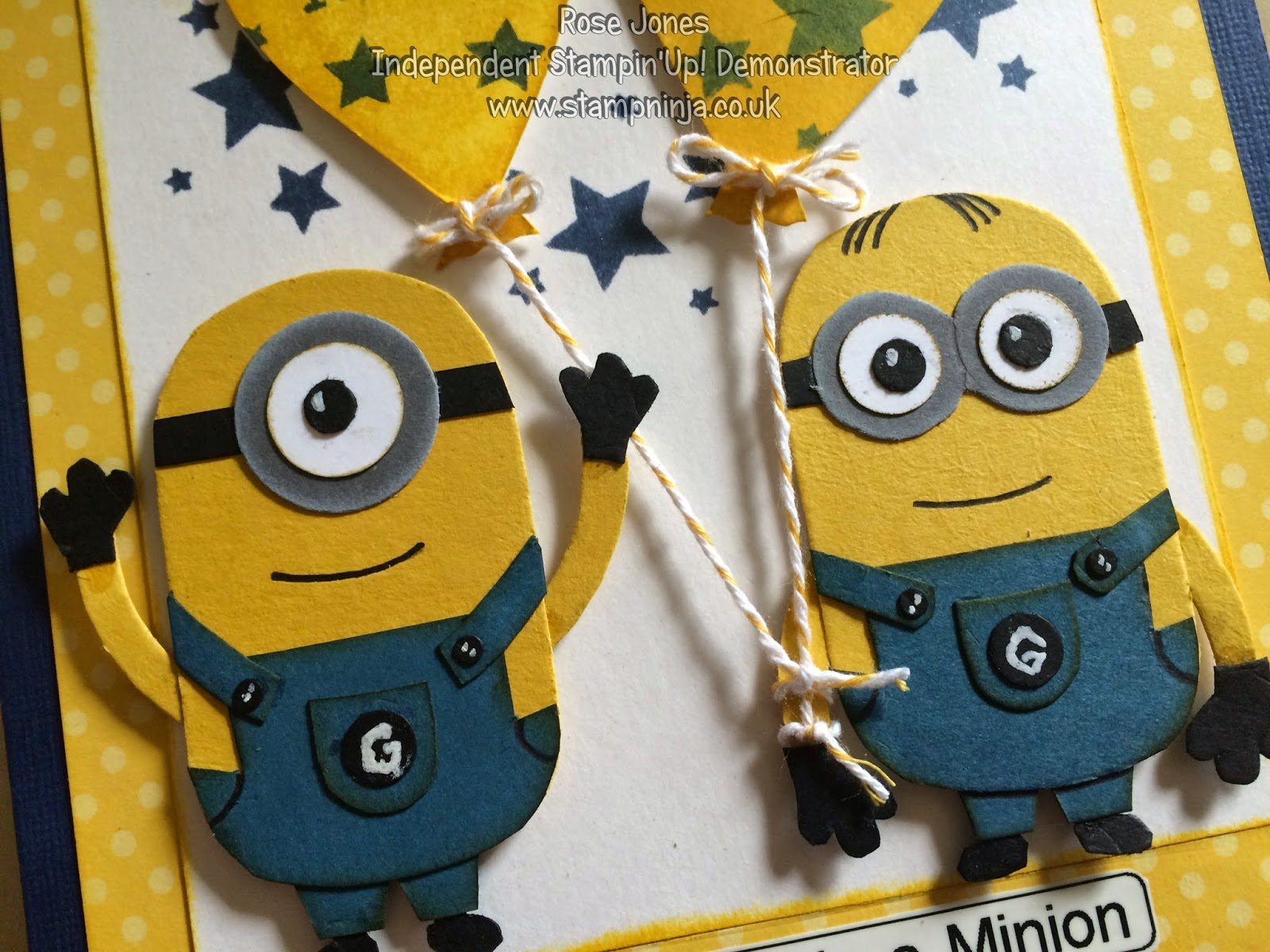 Stamp ninja minions birthday card the you are one in a minion was created using my label machine i tried stamping it but it either wouldnt fit or it didnt look right bookmarktalkfo Image collections