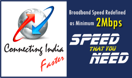 BSNL minimum Broadband Internet Speed increased to 2Mbps