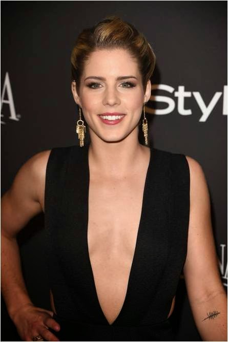 Emily Bett Rickards at Golden Globes Party