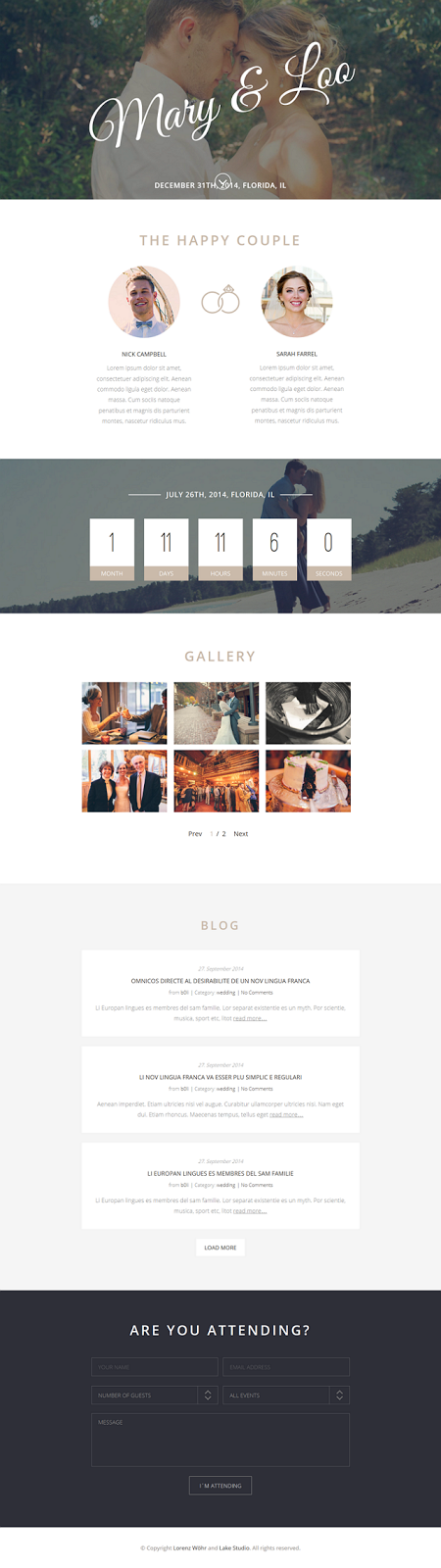 Premium Wordpress Wedding Theme