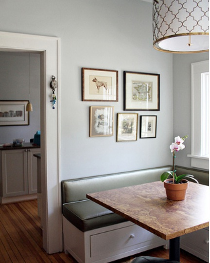 Painted Family Kitchen With Dining Nook: Paint Me Shabby: I Love Nate