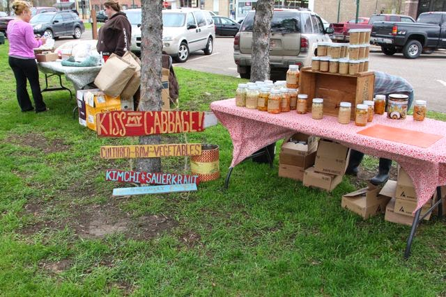 kimchi and kraut at the Chisago City Farmer's Market
