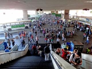 Escadas rolantes e elevadores estão sendo trocados por novos na Rodoviária do Plano Piloto