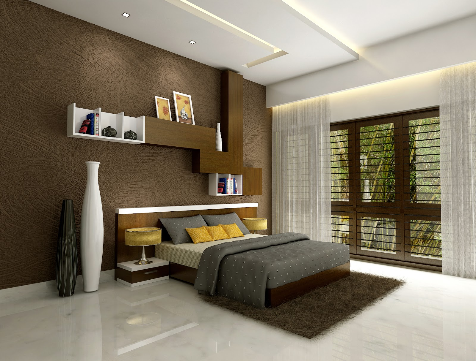 Interior design for living room in kerala living room for Modern bedroom designs