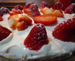 Pastel de Yogur y Fresas